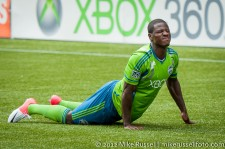 Sounders-Vancouver: Eddie Johnson frustrated after a slip