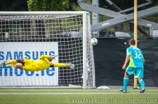 Sounders-Chivas Reserves: Josh Ford diving save to push this one around the post