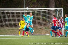 Sounders-Chivas Reserves: Marc Burch clears