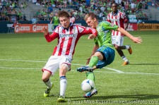 Sounders-Chivas: Alex Caskey and Jorge Villafana