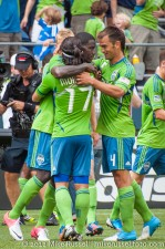 Sounders-Chivas: Celebrating EJ's goal