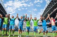 Sounders-Chivas: Celebrating the win with ECS