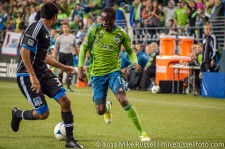 Sounders-Earthquakes: Steve Zakuani and Steven Beitashour