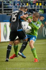 Sounders-Earthquakes: Osvaldo Alonso and Justin Morrow
