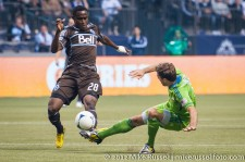 Sounders-Whitecaps: Gershon Koffie and Brad Evans
