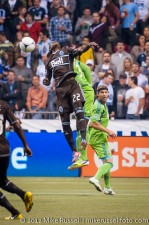 Sounders-Whitecaps: Darren Mattocks and Jhon Kennedy Hurtado