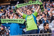 Sounders-Whitecaps: Sounders fans scattered throughout BC Place