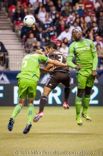 Sounders-Whitecaps: Adam Johansson, Camilo, and Jhon Kennedy Hurtado