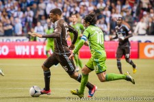 Sounders-Whitecaps: Matt Watson and Mauro Rosales