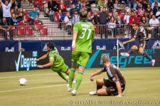 Sounders-Whitecaps: Camilo's shot goes just wide