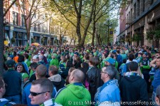 Sounders-Timbers: Big crowd in Occidental Park