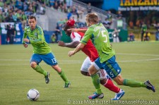 Sounders-Timbers: Christian Tiffert, Bright Dike, and Adam Johansson