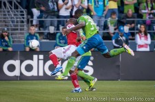 Sounders-Timbers: Bright Dike and Jhon Kennedy Hurtado