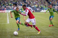 Sounders-Timbers: Adam Johansson and Rodney Wallace