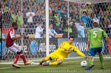 Sounders-Timbers: Darlington Nagbe, Michael Gspurning, and Adam Johansson