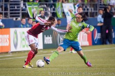 Sounders-Timbers: Rodney Wallace and Mauro Rosales