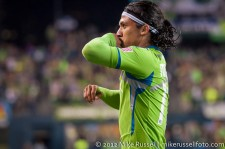 Sounders-Timbers: Fredy Montero celebrating