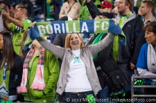 Sounders-Timbers: Fans celebrating the win