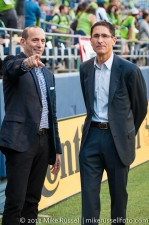 Sounders-Timbers: MLS Commissioner Don Garber with GM Adrian Hanauer