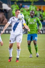 MLS Playoffs - Sounders v LA: Robbie Keane and Jhon Kennedy Hurtado