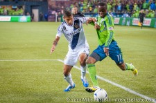 MLS Playoffs - Sounders v LA: Sean Franklin and Steve Zakuani