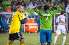 MLS Playoffs - Sounders v LA: Josh Saunders and Eddie Johnson