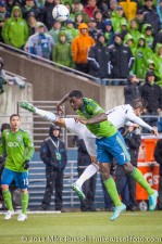 MLS Playoffs - Sounders v LA: Eddie Johnson  and Marcelo Sarvas