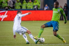 MLS Playoffs - Sounders v LA: Marcelo Sarvas and Steve Zakuani