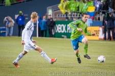 MLS Playoffs - Sounders v LA: Christian Wilhelmsson and Zach Scott