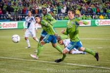 MLS Playoffs - Sounders v LA: Zach Scott scrambles