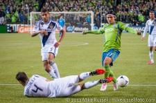 MLS Playoffs - Sounders v LA: Omar Gonzalez and Fredy Montero