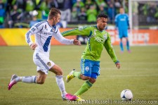 MLS Playoffs - Sounders v LA: David Beckham and Mario Martinez