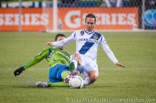 MLS Playoffs - Sounders v LA: Christian Tiffert and Marcelo Sarvas