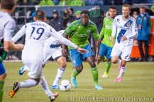 MLS Playoffs - Sounders v LA: Eddie Johnson