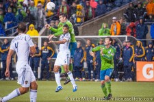 MLS Playoffs - Sounders v LA: Zach Scott and Sean Franklin
