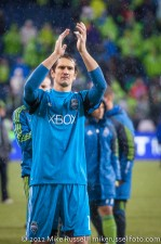 MLS Playoffs - Sounders v LA: Mike Gspurning thanks the fans