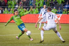 MLS Playoffs - Sounders v LA: Fredy Montero and Tommy Meyer