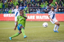 MLS Playoffs - Sounders v LA: Eddie Johnson was wrongly called offside