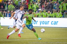 MLS Playoffs - Sounders v LA: Eddie Johnson scores