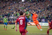 MLS Playoffs Sounders-RSL: Nick Rimando punch save