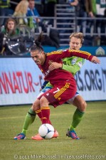MLS Playoffs Sounders-RSL: Espindola and Adam Johansson