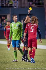 MLS Playoffs Sounders-RSL: Kyle Beckerman sees yellow