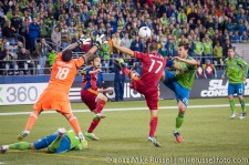 MLS Playoffs Sounders-RSL: Rimando defending his goal, again