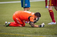 MLS Playoffs Sounders-RSL: Rimando goes down after colliding with Tiffert