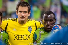 MLS Playoffs Sounders-RSL: Mike Gspurning and Jhon Kennedy Hurtado