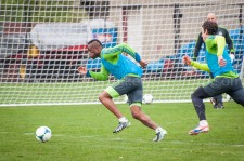Sounders Preseason (Feb 9, 2013): Steve Zakuani and Zach Scott