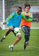 Sounders Preseason (Feb 9, 2013): Steve Zakuani and Mauro Rosales