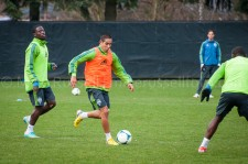 Sounders Preseason (Feb 9, 2013): Eddie Johnson and David Estrada