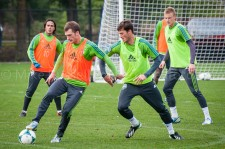 Sounders Preseason (Feb 9, 2013): Mauro Rosales, Alex Caskey, Brad Evans, and Andy Rose