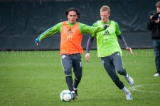 Sounders Preseason (Feb 9, 2013): Mauro Rosales and Andy Rose